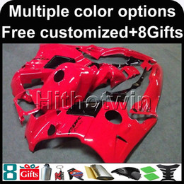 Wholesale 95 Cbr Fairing Kit - 23colors+8Gifts red CBR600F2 91-94 91 92 93 94 ABS Fairings Body Kit Fairing For honda CBR600 CBR 600 F2 95 96 ABS Plastic Bodywork Set