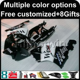 Wholesale 1997 Zx7r Fairings - 23colors+8Gifts white black motorcycle cowl for Kawasaki ZX-7R 1996-2003 96 97 98 99 00 01 02 03 ZX 7R 1996 2003 ABS Plastic Fairing