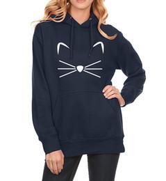 Wholesale Kpop Sale - 2017 Spring Fleece Hot Sale Hoodies Winter Sweatshirt For Women Print CAT Cartoon Kawaii Women's Sportswear Kpop Clothes Hoody