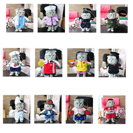 Wholesale Dog Cowboy Costumes - Pet Costume Dog Puppy Cat Fancy Dress Novelty Jacket Pirate Sailor Police Cowboys Cosplay Apparel Suit