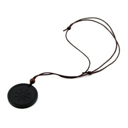 Wholesale Leather Pendant Box - Quantum Pendant Necklace with Negative Ion Energy Pendant with Retail Box and Card
