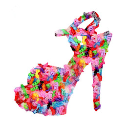 Wholesale Chinese New Fashion Clothing - 2017 New Fashion Colorful Accessories Shoes Heels Sandals For Barbie Clothes Dress Doll Best Gift Girl Baby Toys