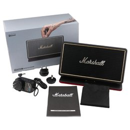 Wholesale Flip Mobiles - Marshall Stockwell Portable Bluetooth Speaker With Flip Cover Case AAA Quality With US AU EU Adapter New Black Speakers With Retail Package