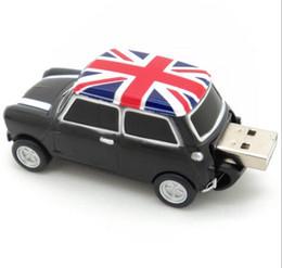 Wholesale Cars England - Cool England BMW Mini cooper car shape model USB 2.0 32GB flash drive memory stick pendrive 8GB 16GB 32GB 64GB 100% Real Full