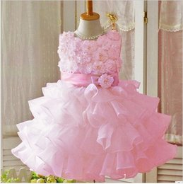 Wholesale Dresse For Party - High Quality 2016 New Girl Dress Chiffon Children Clothing Kids Dresses For Girls White Princess Dress Girls Party Flower Girl's Dresse