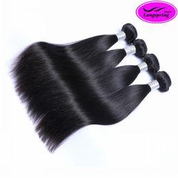 Wholesale Peruvian Straight Hair Sales - Clearance Sale!! Silky Straight Natural Black Unprocessed Peruvian Human Hair Weaves Double Weft 3 Pcs Per Lot Peruvian Hair Bundles