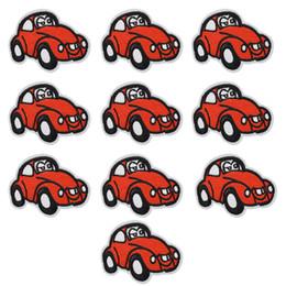 reparos de ferro carros Desconto 10 PCS vermelho carro bordados patches para roupas de ferro remendo para roupas applique acessórios de costura adesivos crachá em roupas de ferro em remendos