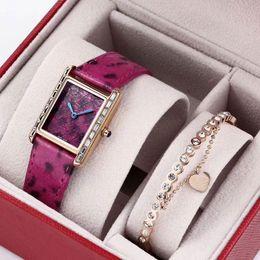 2019 relógio de couro caixas de presente Marca de Moda 2 conjuntos de relógios das mulheres pulseira de diamantes Serpentina pulseira de Couro de quartzo de Luxo relógio para Senhoras meninas com caixa de presente 2019 desconto relógio de couro caixas de presente