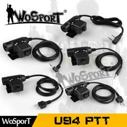 Elite ii headset online-Taktischer U94 PTT-Stecker für Z-Tactical Bowman Elite II Headset PTT für Motorola Kenwood Icom Midland-Telefon-Radio