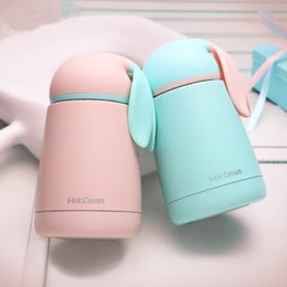 Wholesale Tumblers Drink - Cartoon Rabbit Modeling Thermo Cup Stainless Steel Girls Thermos bottle For water Thermo Mug Cute Thermal vacuum flask child Tumbler