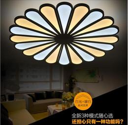 Wholesale Modern Minimalist Fashion Acrylic - 2016 new Fashion Creative Personality Led Acrylic Petals Ceiling Light Modern Minimalist Living Bedroom Study Lamp Remote Circular Ceilin
