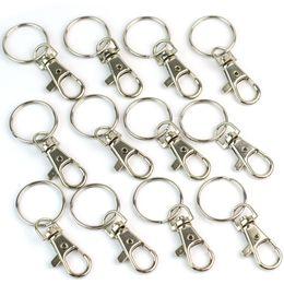 catena a catena chiave a spacco Sconti Catenacci girevoli in metallo argento Catenacci per moschettoni Portachiavi Portachiavi Scanalature per anelli portachiavi fai-da-te