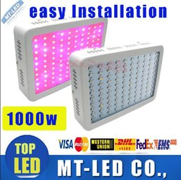 Wholesale System Units - 4 unit High Cost-effective Recommeded Double Chips 1000W LED Grow Light Panel downlights with 9-band Full Spectrum for Hydroponic Systems