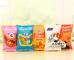 Wholesale Harajuku Case - Wholesale-1PC Harajuku Style Novelty Potato Chips Pencil Bag Women PU Pencil Case Stationery Pencil Bag School Office Supply Escolar