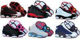 Wholesale Cheap Women Top - 2016 Cheap Top quality New Retro 13 Women Basketball Shoes girls release flint countdown pack grey toe dirty bred barons sport sneaker Boots