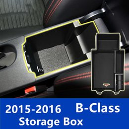 Wholesale center holder - Car Inner Center Console Armrest Decoration Storage Box For Mercedes-Benz B Class 2015-2016 Container Holder Box