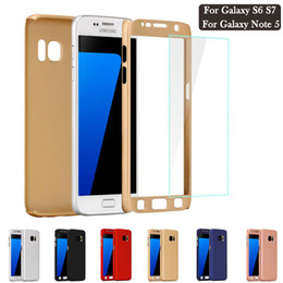 Wholesale Protected Iphone Case - 360 Full Body Protect Case Cover Ultra-thin Hybrid Cases with Tempered Glass Screen Protector for iPhone X 8 7 6 6S Plus 5S
