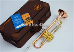 Wholesale bach tr - Wholesale- American Bach Original authentic phosphor bronze TR-197GS B flat professional trumpet bell Top musical instruments Brass horn