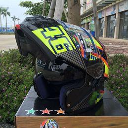 Wholesale Helmet Flip - 2017 New For 46# Flip Up motorcycle helmet full helmet ATV helmet Safety dual lens