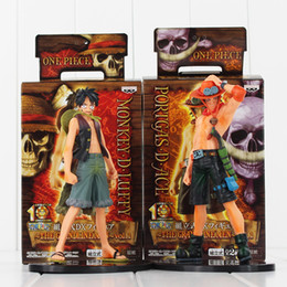Wholesale Portgas D Ace Figure - Anime One Piece Monkey D. Luffy Portgas D. Ace PVC Action Figure Collectable Model Toy 17cm
