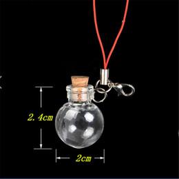 Canada Mini Ball Bouteilles En Verre Pendentifs Porte-clés Petit Souhaitant Bouteilles Avec Des Bouteilles De Liège Pour Les Bracelets Cadeaux De Noël Flacon 100pcs Offre