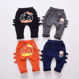 Wholesale Harem Pants For Children - 4 Colors New Kids Pants Boys Clothes Trousers Duck Pattern Thicken Velvet Pure Cotton Children Clothing Pant Harem Pants For Boy A7907