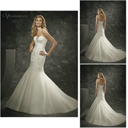 Wholesale Divina Wedding Dress - Strapless Sweetheart Neckline Hand Beaded Organza Mermaid Custom Made 16238 N24 2016 Divina Sposa Bridal Dresses Wedding Gowns