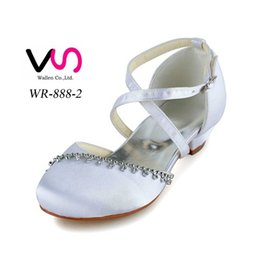 Wholesale Bridal Dresses Size 28 - 2017 Nice design Comfortable little heel Flower gril Bridal Wedding ShoesWedding Dress Shoes From Size 28-Size 42 Any Color is accepted