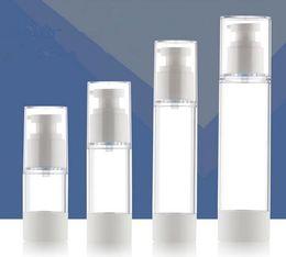 Wholesale Emulsion Bottle - 15ml 30ml 50ml 100ml press pump vacuum flask high-end cosmetics packaging bottle Push type spray bottle emulsion bottle sample bottle