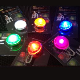 Wholesale Pets Boys - LED Key Ring clip-on pet safety light for you and your dog Colorful Light Mini Bulb keychain RGB LED KEY RING BULB D076