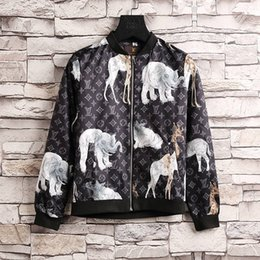 Wholesale Drawstring Jacket - 2018 new 3D Printed Hooded Windbreak Jacket Men Printing Tiger Floral Casual Polyester Wear Men Drawstring Trims Hood Jackets
