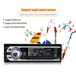 Wholesale Audio Cassettes New - New Car Audio Stereo FM bluetooth Radio MP3 Audio Player 5V Charger USB SD AUX FLAC Electronics Subwoofer In-Dash 1 DIN Car Audio