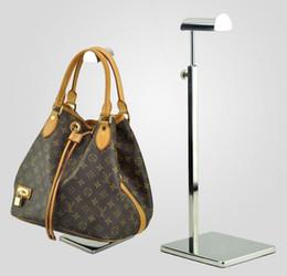 2019 stand debout ipad Livraison gratuite en acier inoxydable en métal femmes sac support présentoir réglable Tie / perruque / sac à main / sac à main titulaire présentoir