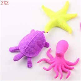 Wholesale Plastic Expansion - Wholesale- 20pcs Various Water Expansion Sea Creature Kinds Mixed expansion Baby Toys Bulk Swell Toy Novelty Water Animal Dolls Gift