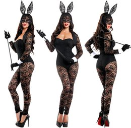 Wholesale Sexy Bunny Costume Cosplay - Sexy Ladies Cute Hot Flirty Bunny Play girl Bunny Ears Costume Rabbit Club Cosplay party fancy dress 7038