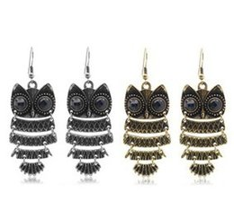 Wholesale Cheap Owl Gifts - 2016 Wholesale 10pcs Fashion Personality style restoring ancient ways the owl earrings Stud for Women Party Dresses up cheap nice gift