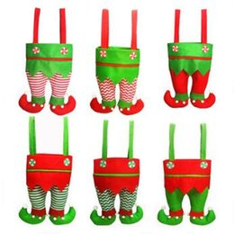 Wholesale Moose Christmas - Christmas Wine Bottle Covers Champagne Wine Bottle Cooler Moose Pattern Sweater Cute Novelty Christmas Party Decorations CCA7927 100pcs