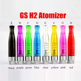 Wholesale Cheap H2 - Cheap GS H2 vaporizer ecig atomizer 7 colors GSh2 GS H2S E-Cigarette Replacement MT3 Coils CE4 Cartomizer For eGo 510 evod ego battery