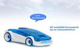 Wholesale Salt Water Power Cars - Strange new creative toy car model. Salt water powered car. DIY educational toys, saline vehicle environmentally friendly toys