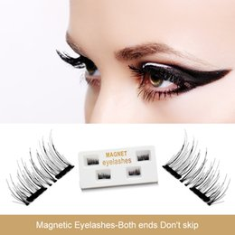 Wholesale Free 3d Hair - False Eyelashes 1Pairs Magnetic Eyelashes 3D Reusable False Magnet Eye Natural Lashes Extension Hand Made Free shipping
