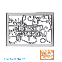 Wholesale Cutting Letter - Letter With Deepest Sympathy DIY Metal Cutting Dies Stencil Scrapbook Card Album Paper Embossing Crafts