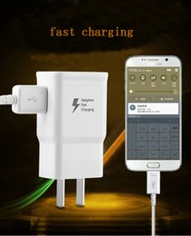 Wholesale Eu Uk Travel - EP-TA20HWE For Samsung US EU AU UK Adaptive Fast Quick Charging Wall chargers Travel Adapter For Galaxy S6 S7 Edge Plus Note 4 5