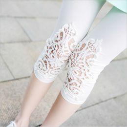 Wholesale Custom Leggings - Wholesale-S-5XL plus size leggings women sport leggings lace decoration white leggings size 5xl 4xl 3xl xxl xl L M S custom made available