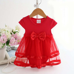 Wholesale Infant Christmas Tutu Dresses - Baby One Piece Romper Infant Wear Children Clothes Kids Clothing 2016 Summer Jumpsuit And Rompers Girl Dress Baby Onesies Lovekiss C25906