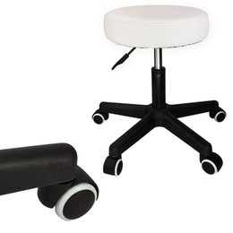 Wholesale Modern Salon Spa - Adjustable White Salon Stool Swivel Hydraulic Tattoo Rolling Facial Massage Spa
