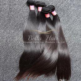 Tramas de pelo recto sedoso online-3 unids / lote mejor 9A sin procesar tramas del pelo peruano 100% color natural recto sedoso extensión del pelo humano envío gratis