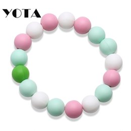 Wholesale Butt Beads - Rubber Silicone Bracelet Butt Bead Bohemian Boho Jewelry 7 Multicolor Woman Girl Gelly Glow