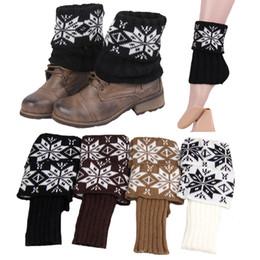 2019 spitzenschneeflocken Frauen-Weihnachtsschneeflocke-Wolle, die kurze Art-Bein-Wärmer-Aufladungs-Bein-Stulpen strickt Weiche geschnürte Aufladungs-Socken geben Verschiffen frei rabatt spitzenschneeflocken