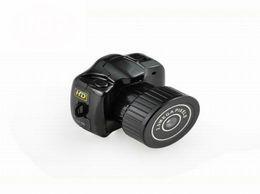 Wholesale Mini Worlds - The World smallest camera Mini HD Y2000 Video Camera Small Mini Pocket DV DVR Camcorder Recorder Spy Hidden Web Cam