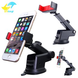 Wholesale black navigation - 360 Degree Adjustable Car Phone Holder Suction phone Stand 360 adjustable Phone Holder For Samsung navigation For iphone 6 7 X samsung